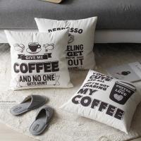 [2HOT] 커피 텍스처 쿠션커버 45x45