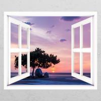 ck776-해가지는경포해변_창문그림액자
