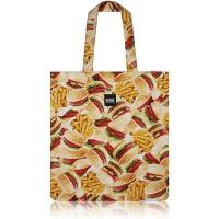 [랜덤으로 하나더] nother Buger & Fries Flat Tote Bag / 나더 햄버거 패턴 플랫 토트백
