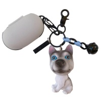 갤럭시버즈 1/2 강아지 키링 실리콘케이스 GB22허스키