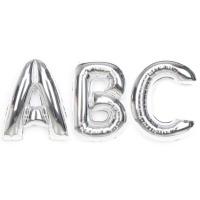 알파벳 은박풍선 (대)-실버