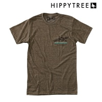 [히피트리] Wingtip Tee - Heather Brown