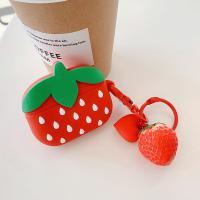 에어팟프로 케이스 실리콘 하트 키링 딸기 pr-8117