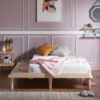 [채우리] 로터스 소나무 원목 침대 프레임/깔판 Q