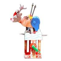 미리크리스마스 스키 타는 사슴 - Skiing Deer (Paper)