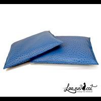 [리스캣] 타조가죽 오스버 방석 - 블루
