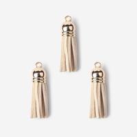 [인디고샵] 아이보리 스웨이드 태슬 장식 (3개)