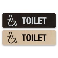 화장실 표지판 알림판 표찰-TOILET(장애인)우드 사인