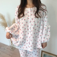 (KC인증) 요루면 레이스 노카라 잠옷 파자마 세트