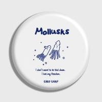 [어프어프] 손거울 Mollusks-white