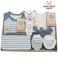 [출산선물 7종세트]오가닉 프리미엄 블루베어 신생아 선물세트