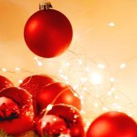 크리스마스 장식볼 오너먼트 5cm 16입 (레드)