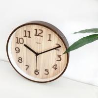 베이직우드무소음벽시계-A(2color)건전지포함