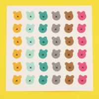 [한톨상점]썸머스프링 반곰이 스티커