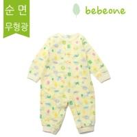 [베베원] 큐티 봄여름 긴팔우주복 유아 아기 출산 백일 돌선물