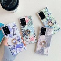 아이폰11 PRO MAX 큐빅 핑거링 플라워 젤리 폰케이스