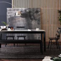 [채우리] 테르 이태리 세라믹 6인식탁세트(의자/벤치)
