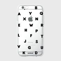 [어프어프] 젤리케이스 Alphabet-black