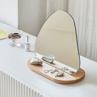 토피넛 원목 스탠드 거울 탁상 화장대 테이블