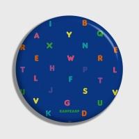 [어프어프] 손거울 Alphabet-blue