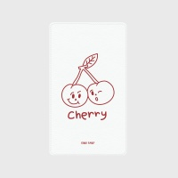 [어프어프] 보조배터리 Twin cherries-white