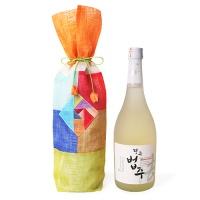[인디고샵] 적황색 전통 모시 술주머니