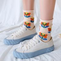 플라워 꽃 양말 8color 갓샵 꽃무늬양말 포인트 삭스