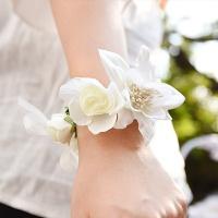 웨딩 꽃팔찌[러블리화이트]