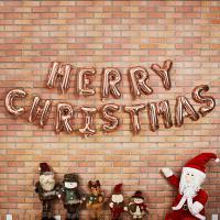 은박풍선세트 MERRY CHRISTMAS [샴페인골드]