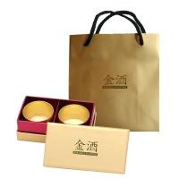 24K 황금 무광 복소주잔 2P 선물세트 (케이스+쇼핑백)