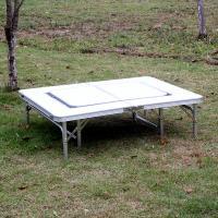 (와인앤쿡)실속형2in1 캠핑 나들이 겸용 테이블1개 탁자세트