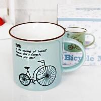 민트그린 자전거 머그 1개