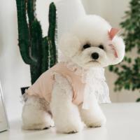 강아지옷 스윗봉봉 리본 핑크티