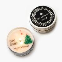 bling bling 크리스마스 메시지 틴캔들 100g