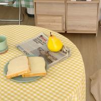 에블린 깅엄 체크 방수 식탁보 4인정사각