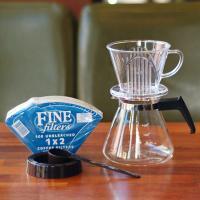 커피두콩 투명드립세트 (투명+필터+유리서버)