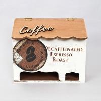 브라운 에스프레소 원목 2단 커피수납함