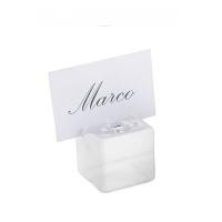 Glass Cubical Vase Notes Holder