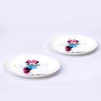 디즈니 미니 컬러 디저트 접시 2PCS [LB0017]