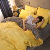 [클라모프] 크리스탈 벨벳 침대커버 세트 Q
