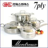 한일 몬트렉스(MONTREUX) 7PLY(7중구조)냄비 4종SET(16+18+24+24전)-백화점판매용