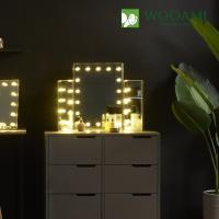 [우아미] 퍼블릭 LED 3단 화장대 거울