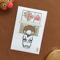 도로보우네코 타코 고양이 사각 스티커