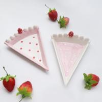 딸기 케이크 접시 2P 세트