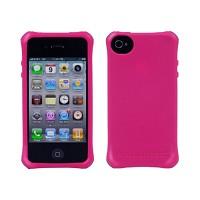 [충격완벽보호 볼리스틱 케이스] BALLISTIC Shell Ballistic LS iPHONE 4. with TPU 4 Bumpers (Hot Pink) [완벽하게 스마트폰 보호 소재]