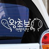 왕초보 멘붕직전 - 초보운전스티커(243)