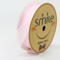 펄오간디리본 15mm (9미터 컷팅롤) 핑크
