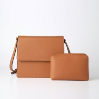 Trapezoid Cross Bag (Brown) - P007C_BR