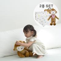 [CONY]아기원숭이애착인형+오가닉스카프(유아선물세트)