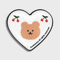 Dot cherry bear-white(hearttoktok)
